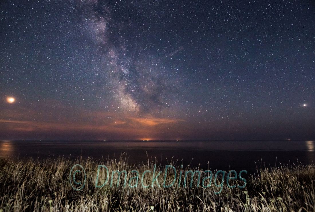 Mars, Saturn, Milky Way, Jupiter from the Isle of Wight.